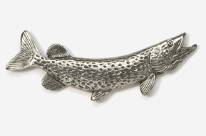 #109 - Northern Pike Antiqued Pewter Pin