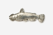 #101 - Bullhead Antiqued Pewter Pin