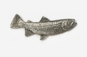#130 - Cutthroat Trout Antiqued Pewter Pin