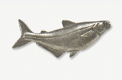 #101A - Pangasius Antiqued Pewter Pin