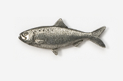 #103 - Shad Antiqued Pewter Pin