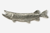 #108 - Muskellunge Antiqued Pewter Pin