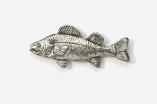#118 - Yellow Perch Antiqued Pewter Pin