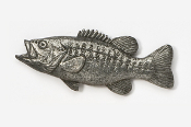 #121 - Smallmouth Bass Antiqued Pewter Pin