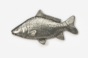 #133 - Mirror Carp Antiqued Pewter Pin