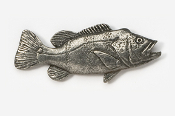 #145 - Peacock Bass Antiqued Pewter Pin