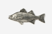 #165 - Hybrid Striper Antiqued Pewter Pin
