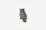 #M360 - Great Horned Owl Pewter Mini-Pin