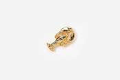 #TT530AG - Top View Lobster 24K Plated Tie Tac