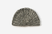 #305A - Tail Fan Antiqued Pewter Pin