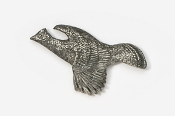 #309 - Flying Ruffed Grouse Antiqued Pewter Pin