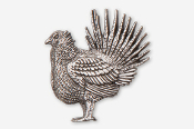 #325A - Sage Grouse Antiqued Pewter Pin