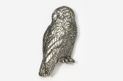 #361 - Snowy Owl Antiqued Pewter Pin