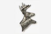 #403 - Buck & Doe Antiqued Pewter Pin