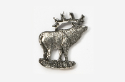 #404 - Elk Antiqued Pewter Pin