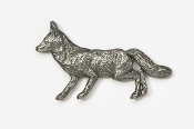 #409 - Fox Antiqued Pewter Pin
