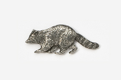 #410 - Raccoon Antiqued Pewter Pin