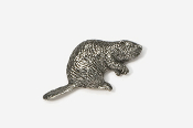 #413 - Beaver Antiqued Pewter Pin