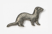 #414B - Ferret Antiqued Pewter Pin