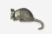#416 - Armadillo Antiqued Pewter Pin