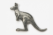 #417 - Kangaroo Antiqued Pewter Pin