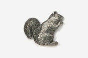#419 - Squirrel Antiqued Pewter Pin