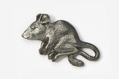 #419A - Mouse Antiqued Pewter Pin