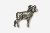 #422 - Bighorn Sheep Antiqued Pewter Pin