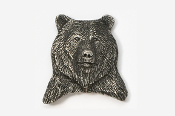 #423B - Bear Head Antiqued Pewter Pin