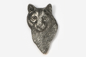 #426A - Mountain Lion Head Antiqued Pewter Pin