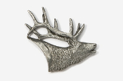 #434 - Elk Head Antiqued Pewter Pin