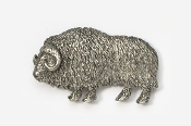 #436 - Muskox Antiqued Pewter Pin