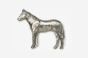 #441 - Standing Horse Antiqued Pewter Pin