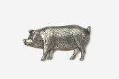 #446 - Pig Antiqued Pewter Pin