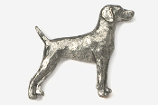 #451A - Weimeraner Antiqued Pewter Pin