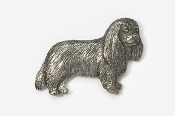 #455C - Cavalier King Charles Antiqued Pewter Pin