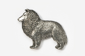 #458 - Sheltie Antiqued Pewter Pin