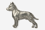 #460A - Amstaff Terrier Antiqued Pewter Pin