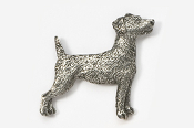#461C - Jack Russell Antiqued Pewter Pin