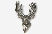 #468 - 10 Point Buck Antiqued Pewter Pin