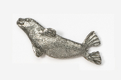 #477 - Seal Antiqued Pewter Pin