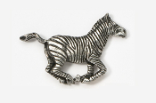 #488 - Zebra Antiqued Pewter Pin