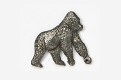 #489 - Gorilla Antiqued Pewter Pin