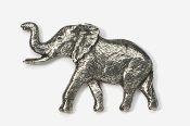 #490 - Elephant Antiqued Pewter Pin