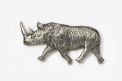 #492 - Rhinoceros Antiqued Pewter Pin