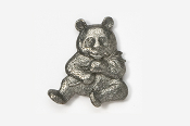 #496 - Panda Antiqued Pewter Pin