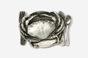 #680B - Dungeness Platter Antiqued Pewter Pin