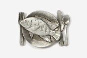 #680C - Tilapia Platter Antiqued Pewter Pin