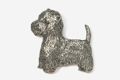 #863 - Westie Antiqued Pewter Pin