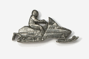 #930 - Snowmobile Antiqued Pewter Pin